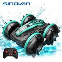 Sinovan Stunt RC Auto 1200mAh 4wd Wasser & Land 2in1 Fernbedienung Auto 2,4G Doppel Seite Flip Amphibien RC Drift Auto Spielzeug für Kind