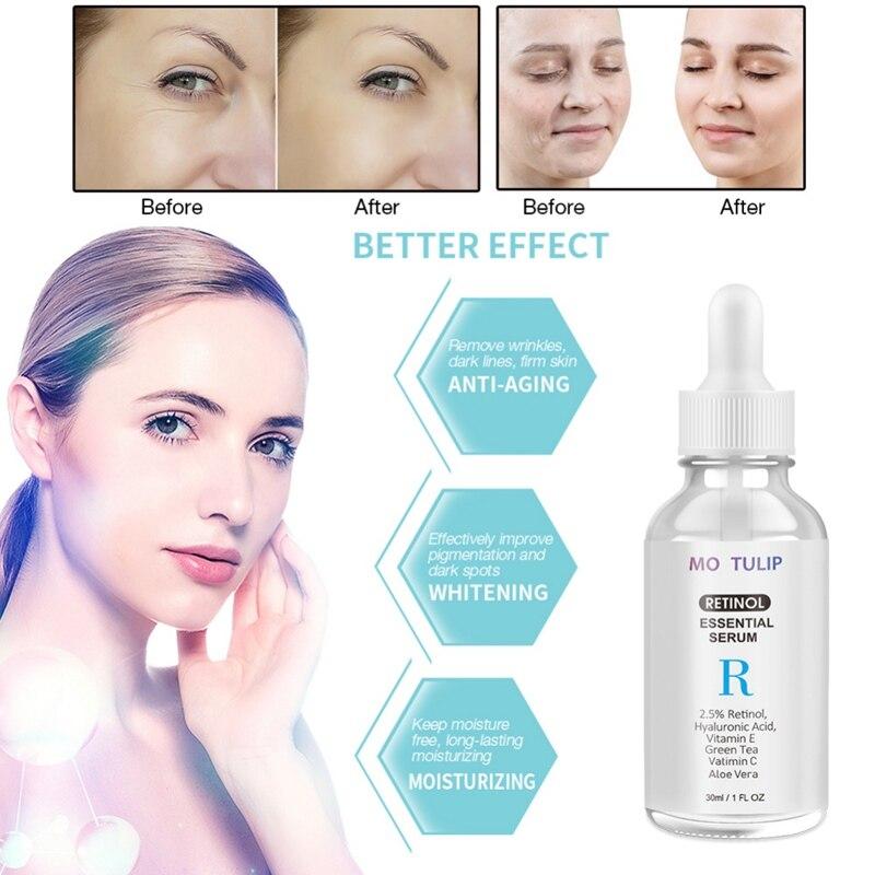 Retinol Serum Moisturizing Nourishing Shrinking Pores Anti-Wrinkle Anti-Ageing Vitamin Hyaluronic Acid Face Serum whitening face