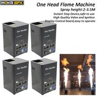 4 Pcs/lot one head stage effect fire machine dmx flame projector stage flame thrower outdoor flame machine with lcd display