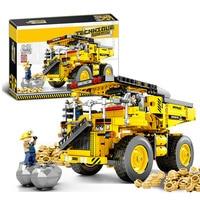 Toys For Children Mining Truck Model Kit Compatible Legoing DIY Assembled Educational Building Blocks Brick Kids Gift New O33