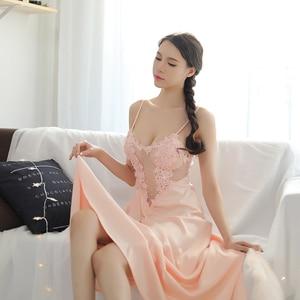 Image 2 - 女性パジャマセクシーなグリーンレースパジャマローブプリンセスドレスネグリジェエレガントなヨーロッパスタイルナイトウェア vestidos