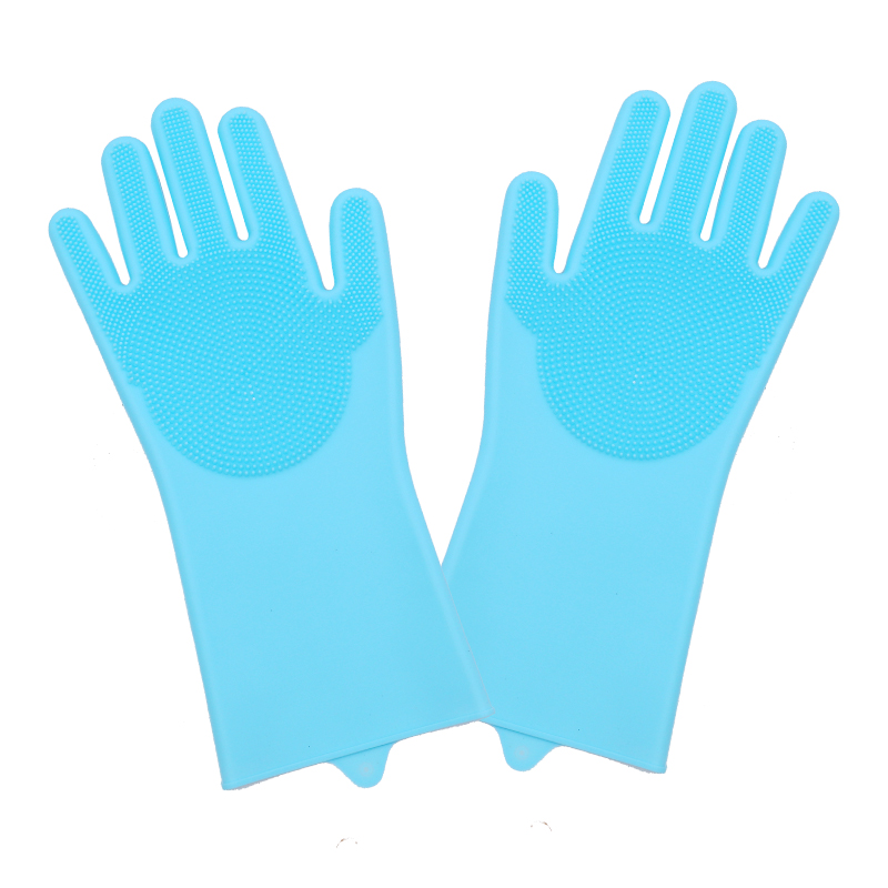 Dish Washing Cleaning Gloves With Cleaning Brush For Cleaning Dishes Kitchen And Housekeeping 11