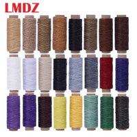 LMDZ 24 цвета/комплект 50 м 150D Кожа Шитье Вощеные нитки плоские Вощеные швейные нитки цепочки из воска сшивание нить для кожа ручной работы