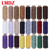 LMDZ 24Color/Set 50m 150D Leather Sewing Waxed Thread Flat Waxed Sewing Thread Wax line Stitching Thread for Leather Craft DIY