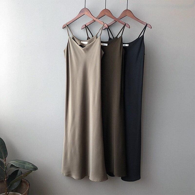 New Arrival Women V-Neck Sleeveless Women Dress Y5702 Vintage Satin Summer Long Dress Boho Elegant Women Casual Dress Vestidos (19)