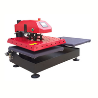 table size 400x 500mm double stations garment printing press machine