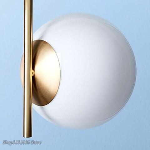 moderno pingente luz bola vidro led