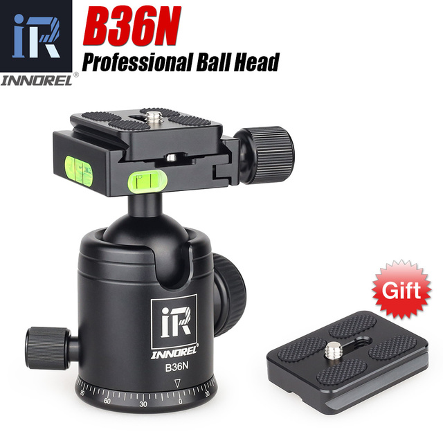 INNOREL B36N פנורמה CNC חצובה כדור ראש עם Arca שוויצרי שחרור מהיר צלחת להתאים עבור מצלמות/טלסקופ/מצלמות וידאו