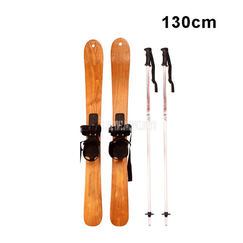 130CM en bois massif Snowboard sports de plein air professionnel neige Ski planche pont Snowboard luge adultes enfants Ski Board JS-236