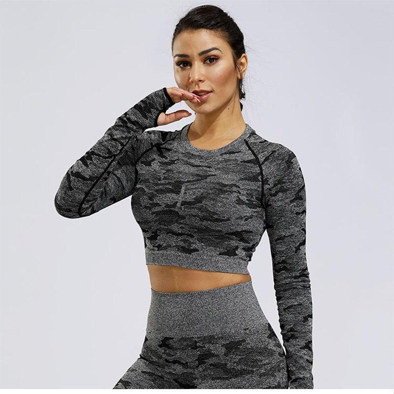 sem costura ginásio superior workout topos para