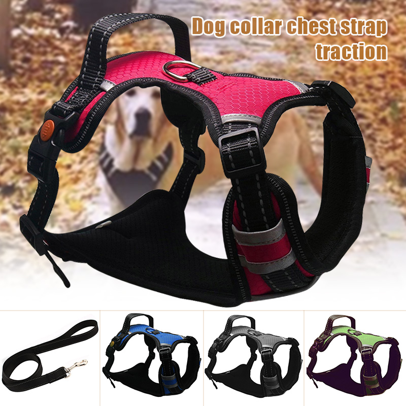 Front Range Dog Harness Adjustable Reflective Padded Harness for Medium Large Pet Dogs MU8669