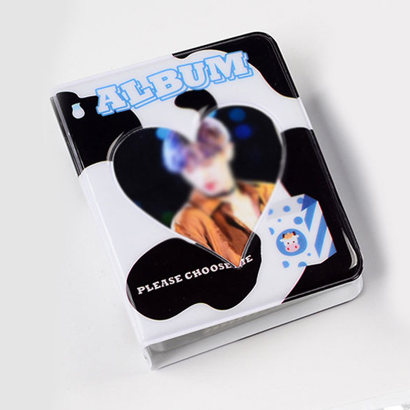 INS 3 Inches Mini Photo Album Cartoon Card Binder Name Card Book 36 Pockets Photocard Holder Plug-in Hollow Love Polaroid Album