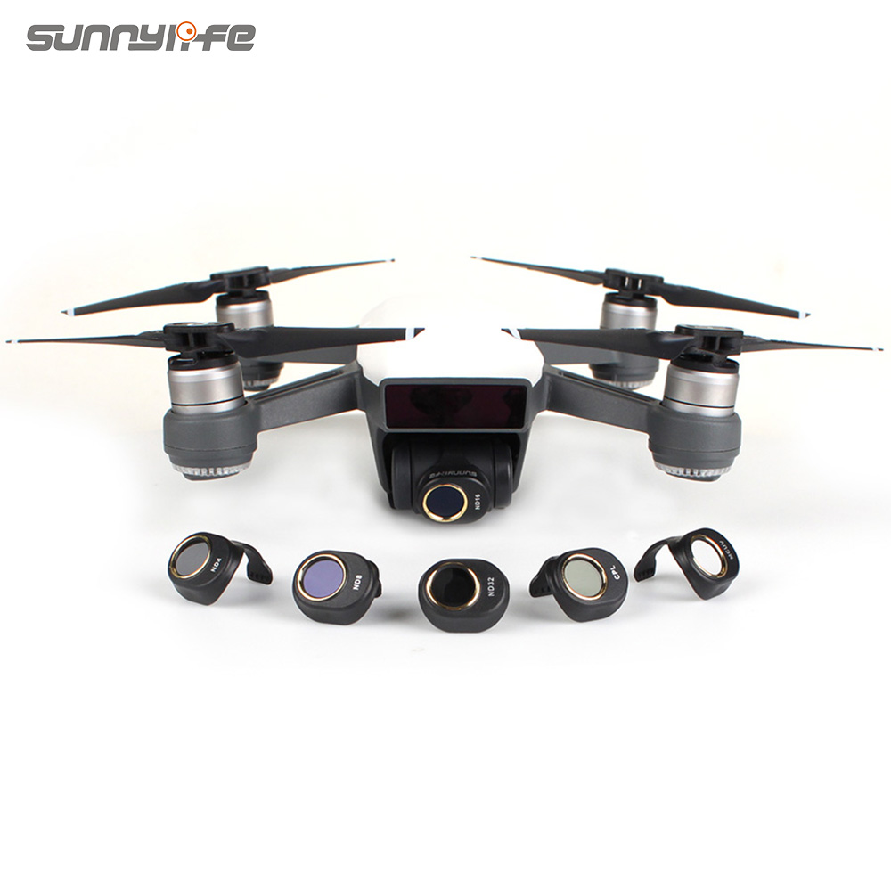 Sunnylife Camera Lens Filter CPL MCUV ND4 ND8 ND16 ND32 Filter Set For DJI SPARK Not Affect Gimbal Self-inspection