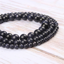 Wholesale Blue Sand Natural Stone Beads Round Beads Loose Beads For Making Diy Bracelet Necklace 4/6/8/10/12MM