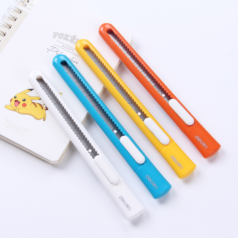 New Products Deli 2025 Color Utility Knife Small Knife Handmade Knife Paper Cutter