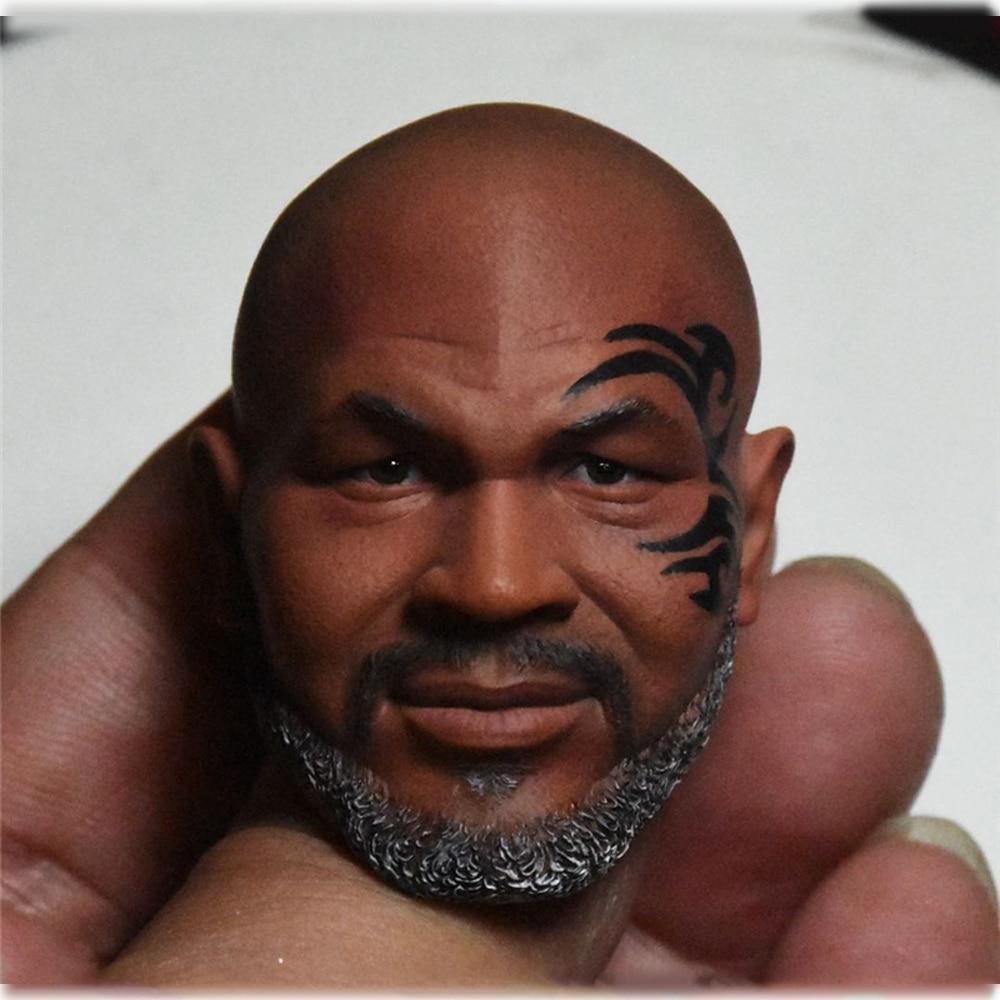 Male Figure Accessory 1/6 Scale Soldier Head Sculpture Tyson Head Sculpture Bearded Tattoo for 12'' Muscle Body Design