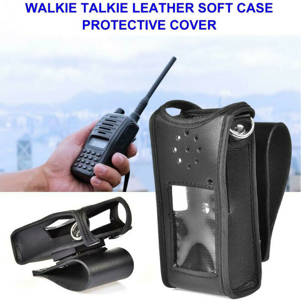 Sheath Buckle Walkie Talkie Adjustable PU Leather Waist Belt Professional Pouch Outdoor Durable Protective Cover For BF-UV9RPLUS