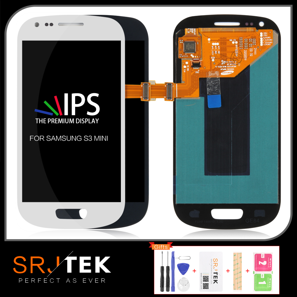 IPS Black White Blue For Samsung Galaxy S3 Mini i8190 LCD DisplayScreen Glass Panel +Touch Screen Digitizer Assembly image