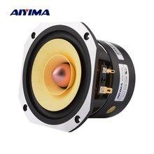 AIYIMA-altavoz de gama completa de 4 pulgadas, columna de 4 ohm, 25W, amplificador de sonido de frecuencia media, Unidad de altavoz para cine en casa