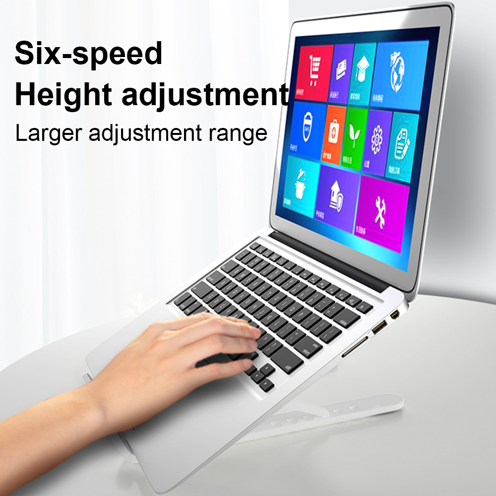cheapest Folding Adjustable Laotop Stand Holder For Mackbook Pro Air Support Notebook Holder Portable Computer Riser Cooling Stand