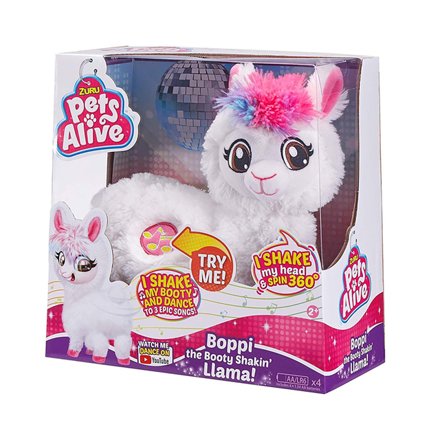 Pets Alive Boppi The Booty Shakin Llama Battery-Powered Dancing Robotic Toy By Zuru Collectible Toy Anime Figure Toys Gift 6