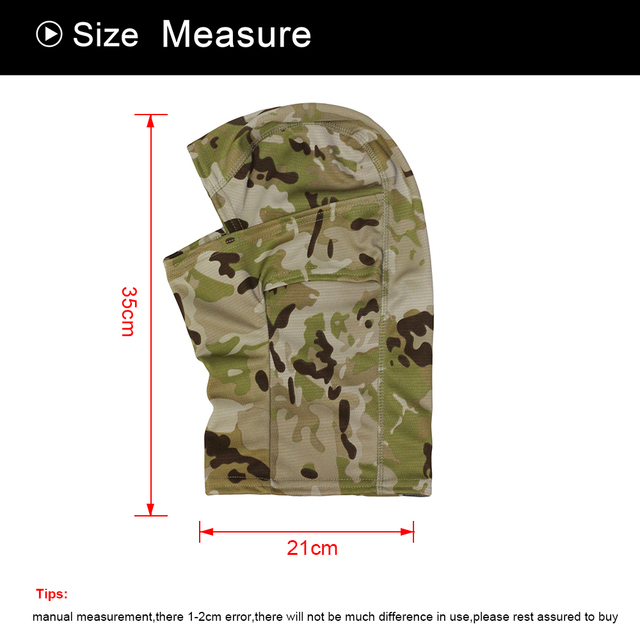 Military Tactical Balaclava Cap CP Camouflage Face Cover Breathable Moto Motorcycle Motocross Cycling Army Biker Head Hat Men 3