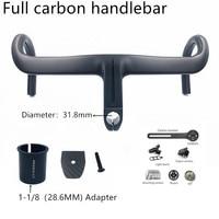 2020 NEW Carbon Handlebar 28.6mm/31.8mm Integrated cycling carbon bar Road Bicycle Handlebar matt black