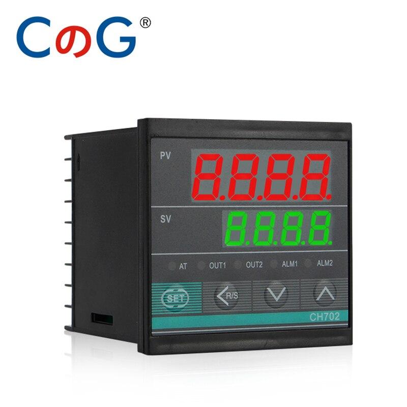 CG 72*72mm Multy Input K E J PT100 0-10V 4-20mA Voltage PID Output SSR Relay AC 220V 24VDC 380VDC Temperature Controller
