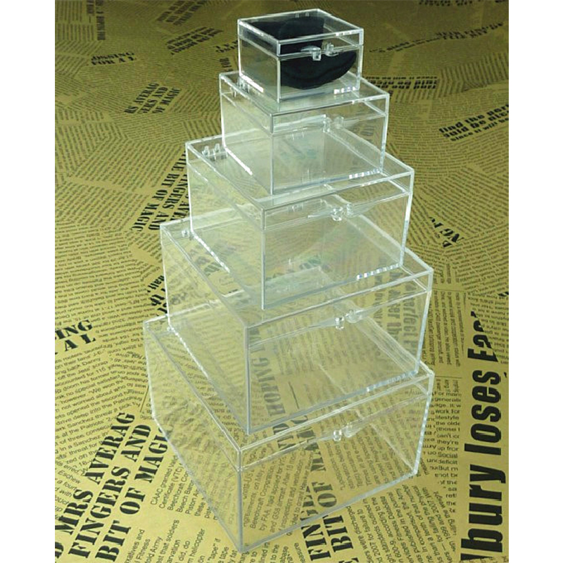 Crystal Nest Of Boxes Magic Tricks Coin Disappear Into Box Magia Magician Close Up Illusions Gimmick Props Mentalism Funny