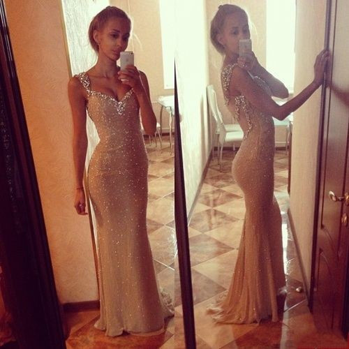 Vestidos De Festa 2015 New Fashion Elegant Scoop Neck Chiffon Long Evening Dresses With Open Back Sleeveles Prom Gowns 2015