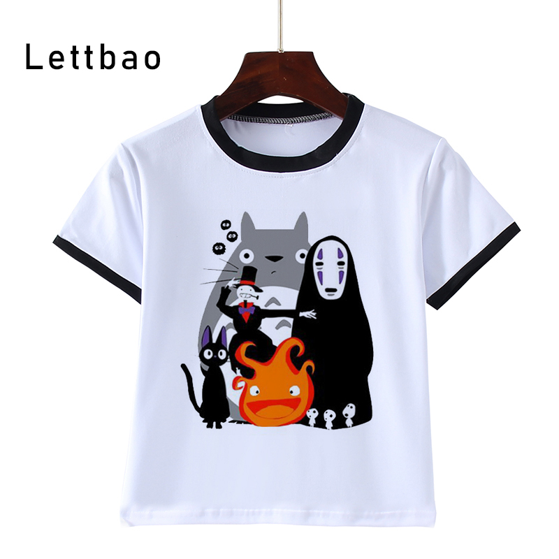 Fashion Print Children Funny T-Shirts Kids Totoro Cool Tees Boys/Girls Cartoon Casual Tops Baby Clothes 3 To 14 Years