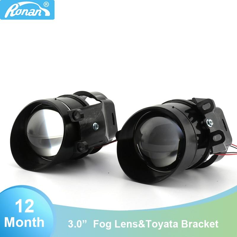 RONAN 3.0inch For Camry G2 Type Bi Xenon Fog Light Waterproof Projector Lens D2S D2H H11 Lamps