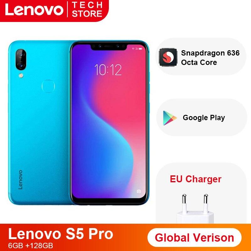 Lenovo S5 Pro смартфон с 6,2-дюймовым дисплеем, восьмиядерным процессором Snapdragon 636, ОЗУ 6 ГБ, ПЗУ 64 ГБ, 3500 мАч