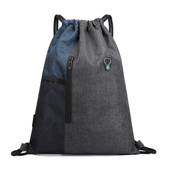 Lightweight Packable Backpack Fashion Casual Unisex Bundle Rope Sport Backpack School Bags Travel Beach Bags For Men Women Blue 1