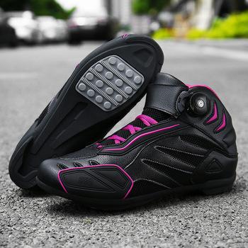 Buty motocyklowe Mesh letnie męskie buty motocyklowe buty motocrossowe wyścigi motocyklowe Botas Moto Boot buty do kostki tanie i dobre opinie CN (pochodzenie) Nylon i bawełna ANKLE Oddychające Mężczyźni JC-890 Red black black Pink 36 39 38 40 41 42 43 44 45 37