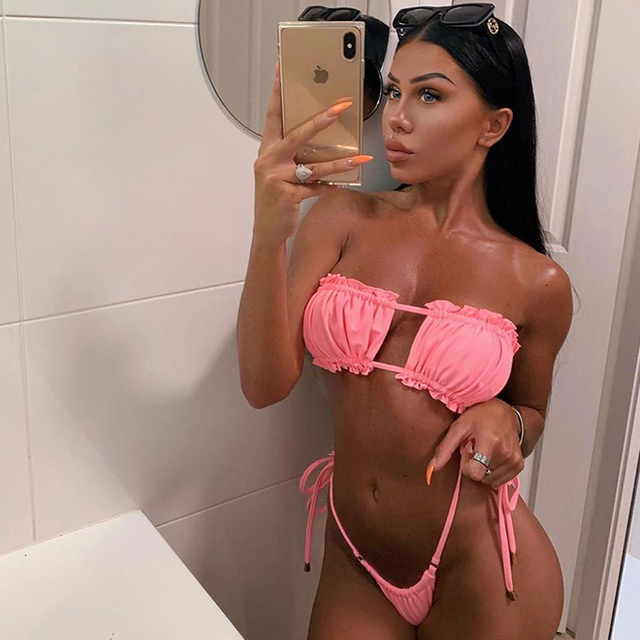 Sexy Polka Dot Bikini Two Piece Brazilian Swimsuit