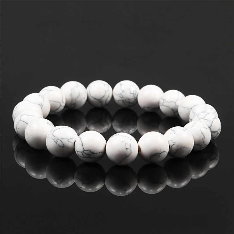 אופנה אלסטי bracelsts & צמידי 10MM חרוזים טבעי yoga תכשיטי lava מט עין נמר גברים נשים bracelst מתנה drop חינם