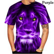 Lion Unisex T-shirt, New Lion Pattern, Customized Large Size, Eye-catching Fashion T-shirt