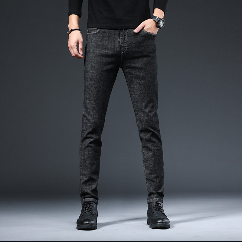 ICPANS Korea Skinny Jeans Men Slim Fit Black Blue Elastic Waist Pencil Denim Pants Men 2020 Spring Summer 5