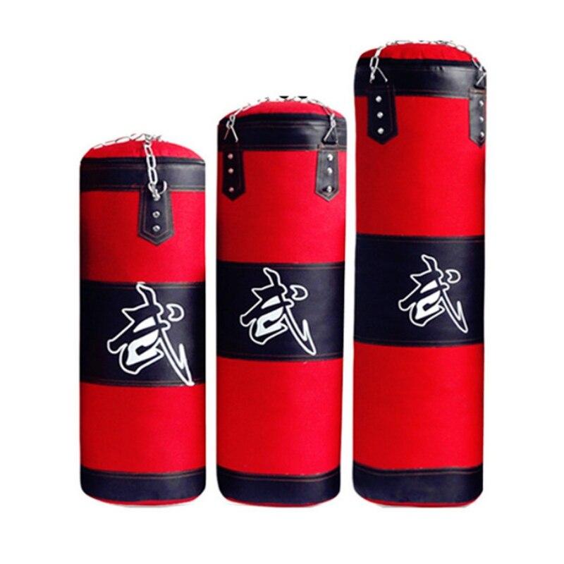 Saco de areia de boxe sacos de boxe vazio taekwondo kickboxing equipamentos artes marciais pendurado pontapé muay thai boxer formação 100/120cm