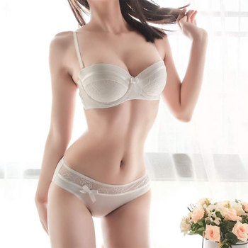 NEW Lingerie Set Sexy Intimates Bra Ladies Bra And Panty Set White Push Up Underwear Floral Embroidery Lace Women Bra Panty bfforw lingerie sets sexy lace floral bra panties set women intimates breathable wireless push up sexy underwear bra set