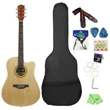 41in Basswood Cutaway Guitar Smooth Fingerboard Include Bag Strap String Pick Six-hole Tuning Flute Capo Wrench Polishing Cloth