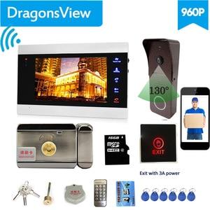 Image 2 - 【Wifi Intercom Met Slot 】Dragonsview 7 Inch Wifi Video Deurtelefoon Intercom Systeem Wirelesss Deurbel Camera Elektronisch Slot