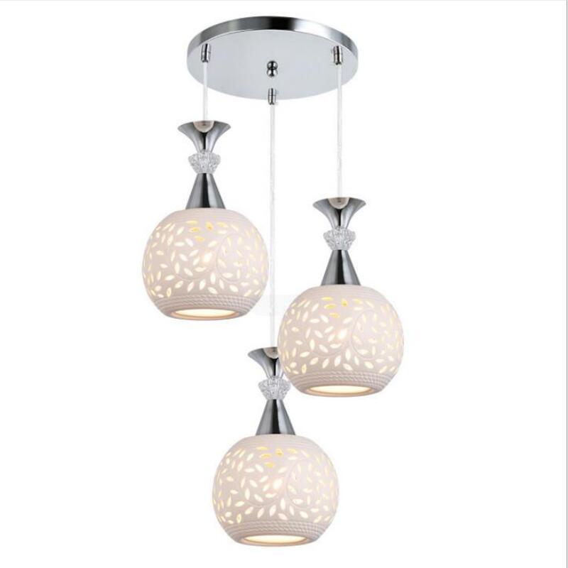 Модные креативные подвесные светильники в форме головы для ресторана, гостиной, E27, светодиодные лампы, светодиодное подвесное освещение Z5 - Цвет корпуса: Three light sources