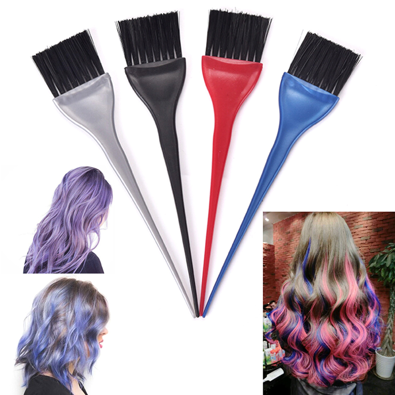 Hair Salon Oily Hair Brush Plastic Hair Dye Color Comb Brush Professional Hairdressing Tinting Combs Hair Styling Tools