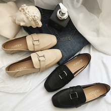 2019 Ladies PU Leather Shoes Moccasins Women Spring Comfortable Soft Work Office Loafers shoes Black Womens Flats