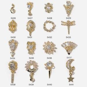 Gold Design Linie Stein Nagel Studs Nägel Kunst Teile für Nagel UV Gel Polnischen Dekoration von Nagel Zubehör
