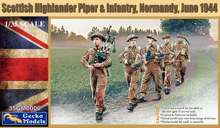 Gecko Models 35GM0006 1/35 Scottish Highlander Piper & Infantry,  Normandy,June 1944 Scale Model Kit|Model Building Kits| - AliExpress