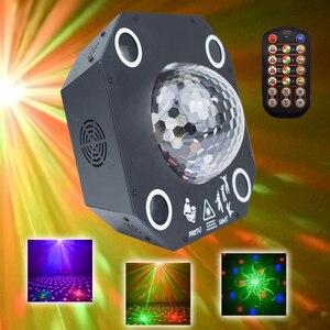 WUZSTAR дискотечный светодиодный шар, диджейский светильник, сценический декоративный светильник, эффект RGB DMX, лазерный светильник для вечери...