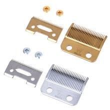 1 conjunto profissional máquina de cortar cabelo lâmina parafusos prata dourado substituição lâmina aparador cabelo caixa acessórios aço lâmina
